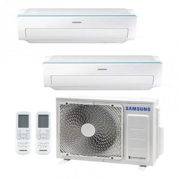 Condizionatore Samsung AR6500 NEW Dual Split 7000+7000 BTU inverter R32 AJ040 A+++/A++ WIFI